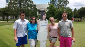 TPAC Students at Putting Competition Conner Evans, Nancy King, Katie Hudgins, Hayden Silcox